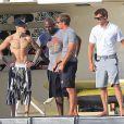 Justin Bieber en vacances à Ibiza, le 30 juillet 2014.