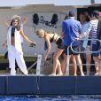 Michelle Rodriguez en vacances à Ibiza, le 30 juillet 2014.