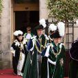 La princesse Anne, le prince William et la reine Elizabeth II d'Angleterre assistent à une cérémonie en la cathédrale St Giles à Edimbourg le 3 juillet 2014