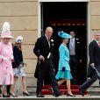 La famille royale au palais de Buckingham à Londres le 30 mai 2013 lors d'une garden party