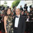 Guy Marchand et sa femme Adelina lors du Festival de Cannes 2008