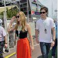 Jennifer Lawrence et Nicholas Hoult lors du Grand Prix de Formule 1 de Monaco en 2012