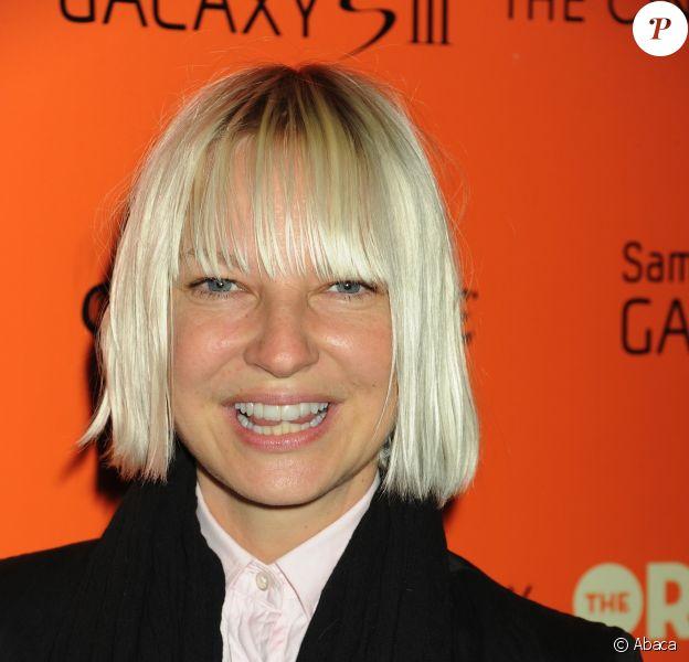 La chanteuse Sia à New York, le 14 septembre 2012.