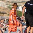 Lindsay Lohan profite de ses vacances à Mykonos en Grèce, le 4 août 2014.