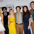 Kaley Cuoco et le stars de The Big Bang Theory aux People's Choice Awards à Los Angeles, le 9 janvier 2013.