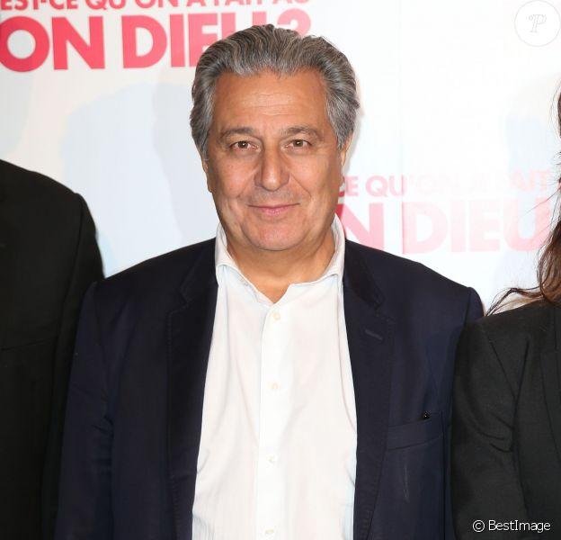 """Christian Clavier - Avant-première du film """"Qu'est-ce qu'on a fait au Bon Dieu?"""" au Grand Rex à Paris, le 10 avril 2014"""