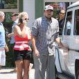 Britney Spears et son petit-ami David Lucado vont déjeuner au restaurant à Agoura Hills, le 11 août 2014.