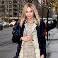 Ciara, enceinte, dans les rues de New York, le 14 janvier 2014.
