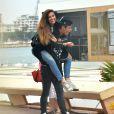 Exclusif - Martika Caringella (Bachelor 2014) et son petit ami Tiago sur la Croisette lors du 67e festival international du film de Cannes. Le 22 mai 2014.