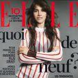 Charlotte Gainsbourg en couverture du magazine Elle du 14 août 2014