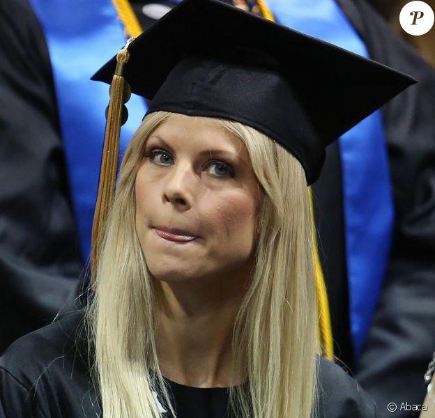 Elin Nordegren lors d'une cérémonie de remise de diplôme à Winter Park en Floride. Le 10 mai 2014.
