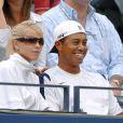Elin Nordegren et Tiger Woods dans les tribunes de Flushing Meadows, à New York. Septembre 2006.