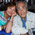 Macha Méril et son compagnon Michel Legrand - Festival du livre de Nice. Le 14 juin 2014