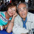 Macha Méril et son compagnon Michel Legrand - Festival du livre de Nice. Le 14 juin 2014.