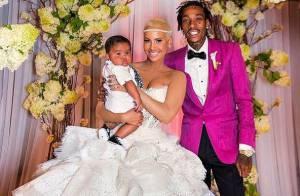 Amber Rose et Wiz Khalifa : Photos souvenirs du mariage pour leur anniversaire
