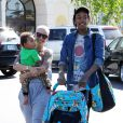 Amber Rose, Wiz Khalifa et leur fils Sebastian à Calabasas, Los Angeles, le 17 mars 2014.