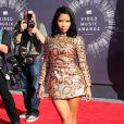 Nicki Minaj arrive au Forum pour les MTV Video Music Awards 2014. Inglewood, Los Angeles, le 24 août 2014.