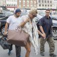 Pamela Anderson et son mari Rick Salomon à Roskilde sur l'île de Seeland, le 28 juillet 2014