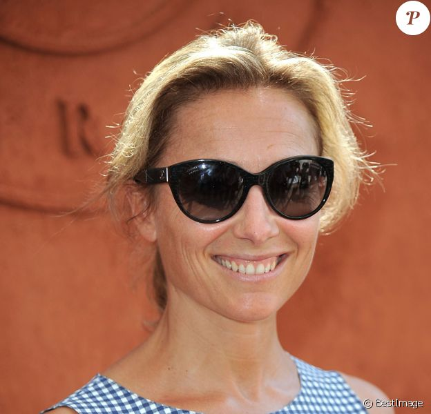 Anne-Sophie Lapix - People au village des Internationaux de France de tennis de Roland-Garros à Paris, le 8 juin 2014.