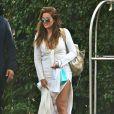 Khloé Kardashian arrive à la baby shower d'Abbey Wilson à Los Angeles, le 1er septembre 2014.