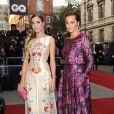 """Yasmin Le Bon et sa fille Amber Le Bon - Soirée """"GQ Men of the Year Awards 2014"""" à Londres, le 2 septembre 2014."""