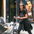 Ciara et son fils Future Zahir à New York, le 15 août 2014.