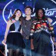 """Nouvelle Star 2014 - Pauline, Alvaro et Yseult sur le huitième prime de la """"Nouvelle Star 2014"""", le 6 février 2014."""