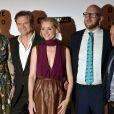 """Nicole Kidman, Colin Firth, Ann Marie Duffy, S.J. Watson et Rowan Joffe à la première du film """"Before I Go To Sleep"""" à Londres, le 4 septembre 2014."""