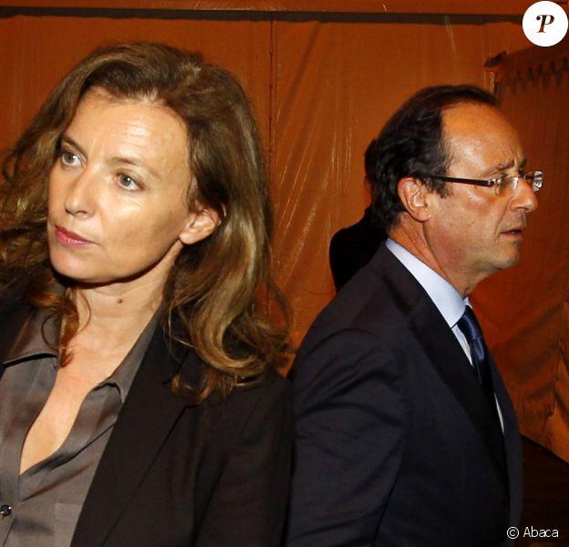 François Hollande et Valérie Trierweiler à Brive-La-Gaillarde, le 4 novembre 2011