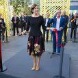La princesse Mary de Danemark lors de l'inauguration d'un salon sur le logement social, le 5 septembre 2014 au Bella Center à Copenhague.
