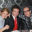 Frigide Barjot, son mari Basile de Koch, son beau-frère Karl Zéro et son épouse Daisy D'Errata à Paris en 2010