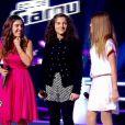 Virginia, Naya et Victoria dans The Voice Kids, le 13 septembre 2014 sur TF1.