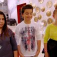 Océane, Nicolas et Charlie dans The Voice Kids, le 13 septembre 2014 sur TF1.