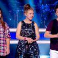 Océane, Charlie et Nicolas dans The Voice Kids, le 13 septembre 2014 sur TF1.