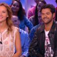 Jamel Debbouze et Melissa Theuriau au Grand Journal, le 10 septembre 2014, sur Canal+