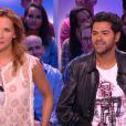 Jamel Debbouze et Melissa Theuriau amoureux au Grand Journal, le 10 septembre 2014, sur Canal+