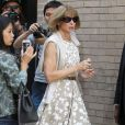 Anna Wintour à l'issue du défilé Michael Kors à New York. Le 10 septembre 2014.