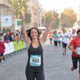 """Nathalie Péchalat - Course """"La Parisienne 2014"""" pour la lutte contre le cancer, au Champs de Mars à Paris, le 14 septembre 2014."""