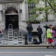 La mairie de Chelsea a publié un communiqué pour les médias afin de démentir la rumeur de mariage civil entre George Clooney et Amal Alamuddin à Londres le 12 septembre 2014.