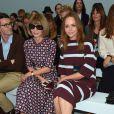 Anna Wintour et Stella McCartney assistent au défilé Hunter Original printemps-été 2015. Londres, le 13 septembre 2014.