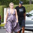 Exclusif - Donald Faison et sa femme CaCee Cobb à la fête d'anniversaire d'Eric Johnson, à Beverly Hills, le 15 septembre 2014.