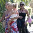 Exclusif - Jessica Simpson et sa fille Maxwell à la fête d'anniversaire de son mari Eric Johnson, à Beverly Hills, le 15 septembre 2014.