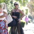 Exclusif - Jessica Simpson à la fête d'anniversaire de son mari Eric Johnson, à Beverly Hills, le 15 septembre 2014.