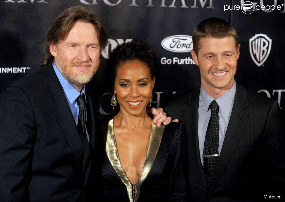 Donal Logue, Jada Pinkett Smith et Benjamin McKenzie lors de la présentation de la série Gotham à New York, le 15 septembre 2014.