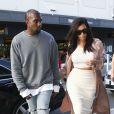 Kim Kardashian et Kanye West à Sydney, le 13 septembre 2014.