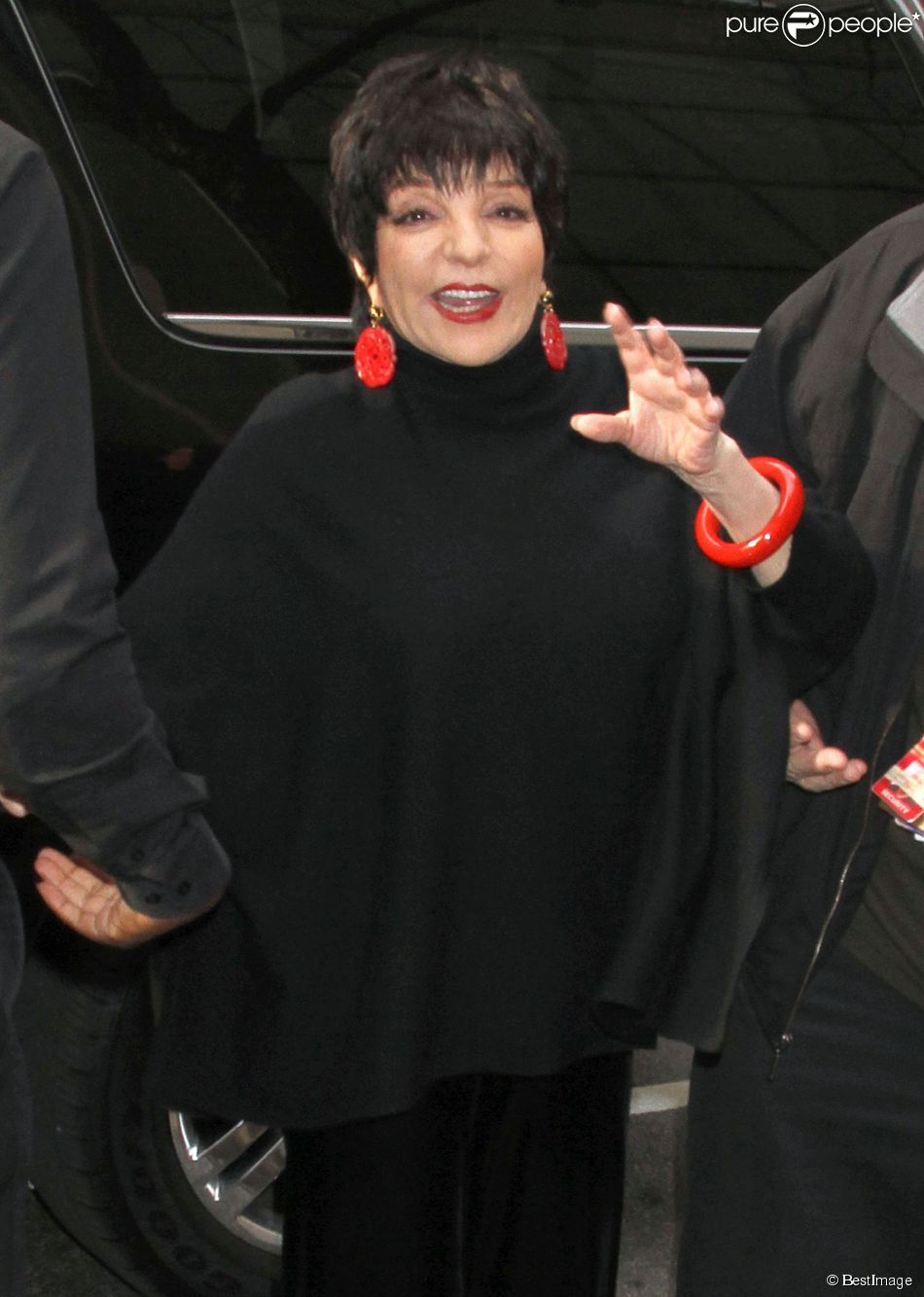 "Liza Minnelli arrive aux NBC studios pour participer à l'émission ""Today"" à New York, le 12 mars 2014."