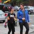 Lily Allen et un ami dans les rues de New York, le 21 septembre 2014.