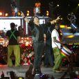 """Exclusif - Patrick Bruel en concert à Lille au Stade Pierre-Mauroy pour sa tournée """"On s'était dit rendez-vous dans 25 ans"""" le 5 septembre 2014. Le spectacle était retransmis en direct sur TF1."""