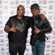 Jacky Brown et Black M lors de la conférence de presse des Trace Urban Music Awards 2014 au Casino de Paris. Paris, le 23 septembre 2014.