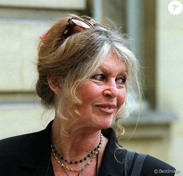 Brigitte Bardot à Matignon pour plaider la cause des animaux le 16 juillet 2001